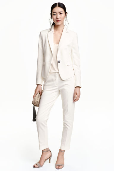 Suit trousers - Natural white - Ladies | H&M CN 1