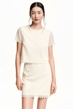 Lace top - Natural white - Ladies | H&M CN 1