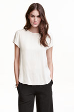Top a maniche corte - Bianco - DONNA | H&M IT 1