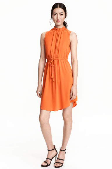 Crêpe dress - Orange - Ladies | H&M CN 1