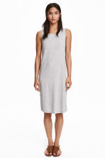 Sleeveless jersey dress - Light grey marl - Ladies | H&M CN 1
