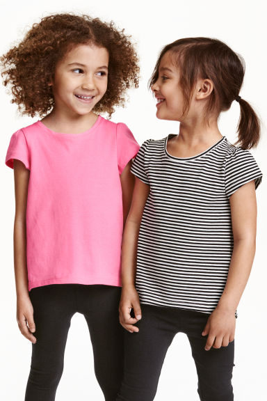 2-pack jersey tops - Natural white - Kids | H&M CN