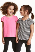 2-pack jersey tops - Natural white - Kids | H&M CN 1