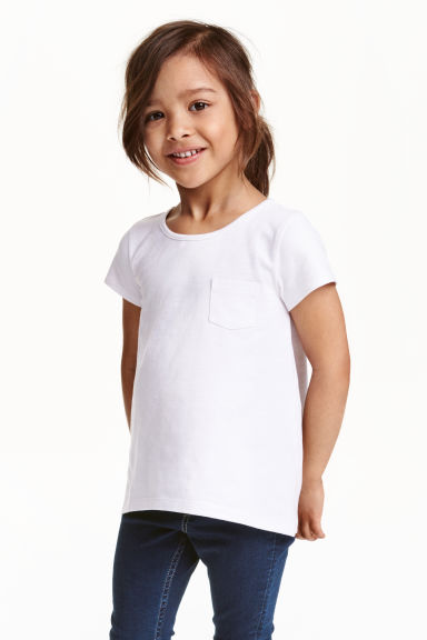 Jersey top - White - Kids | H&M CN 1