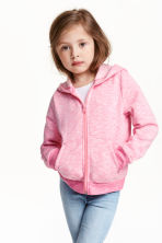 Hooded jacket - Pink marl - Kids | H&M CN 1
