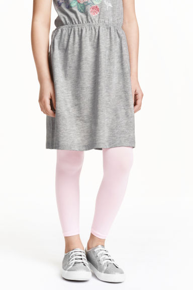 2-pack microfibre leggings - Light pink - Kids | H&M 1
