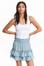 Tiered skirt - Light denim blue - Ladies | H&M CN 1