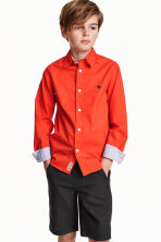 Cotton shirt - Light red -  | H&M CN 1
