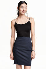 Strappy viscose top - Black - Ladies | H&M 2