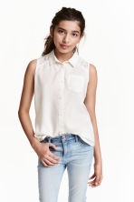 Sleeveless blouse - White - Kids | H&M CN 1