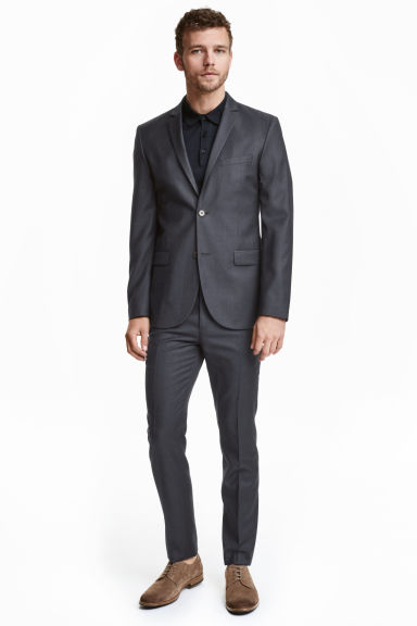 Wool suit trousers - Dark blue - Men | H&M CN 1