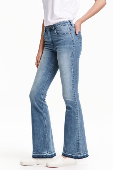 Flared Regular Jeans - 牛仔蓝 - 女士 | H&M CN 1