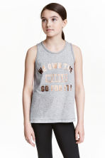 Sports vest top - Grey marl - Kids | H&M CN 1