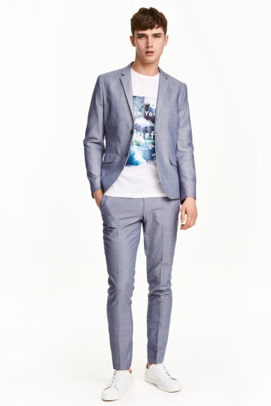 Suit trousers Slim fit - Blue - Men | H&M CN 1