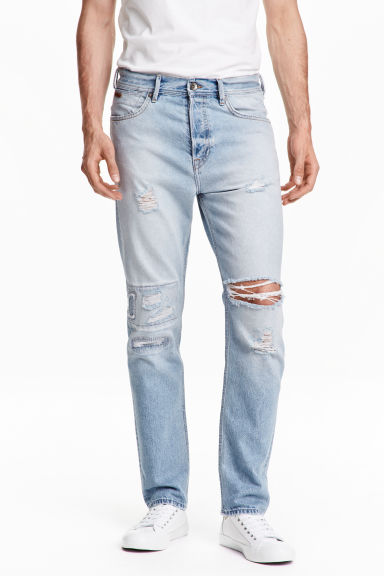 Tapered Low Jeans - Light denim blue - Men | H&M CN 1