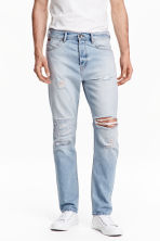 Tapered Low Jeans - 浅牛仔蓝 - 男士 | H&M CN 1
