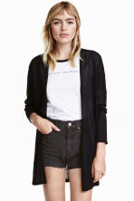 Fine-knit cardigan - Black - Ladies | H&M GB 1