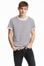2-pack T-shirts - Black/White/Striped - Men | H&M CN 1
