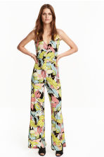 Patterned jumpsuit - Black/Leaf - Ladies | H&M CN 1