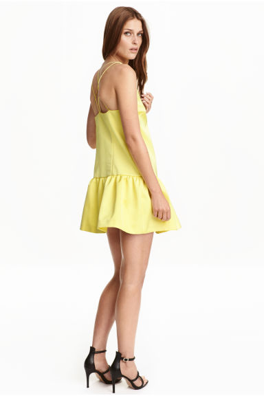Satin dress - Yellow -  | H&M