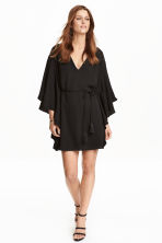 Dress with butterfly sleeves - Black - Ladies | H&M CN 1