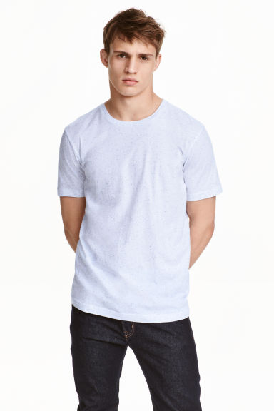 Nepped T-shirt Regular fit - Light blue marl - Men | H&M CN 1