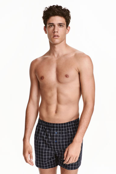 Boxer, 3 pz - Nero/quadri - UOMO | H&M IT
