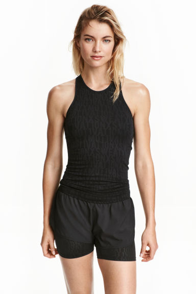 Seamless running vest - Black - Ladies | H&M CN 1