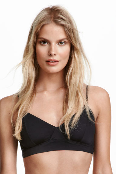 Soft microfibre bra - Black - Ladies | H&M CN