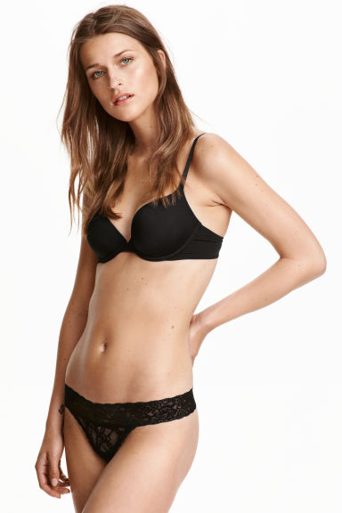 3-pack lace string briefs - Black - Ladies | H&M CN 1