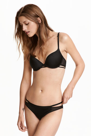 Microfibre briefs - Black - Ladies | H&M CN 1