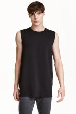 Fine-knit vest top - Black - Men | H&M CN 1