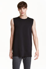 Fine-knit vest top - Black - Men | H&M CN 2