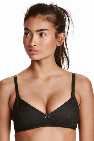 MAMA 2-pack lace nursing bras - Black/White - Ladies | H&M CN 1