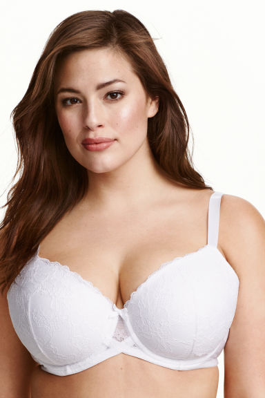 Padded underwired bra E/F cup - White - Ladies | H&M CN 1