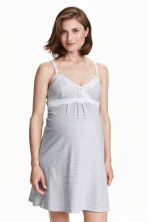 MAMA Nightslip - White/Patterned - Ladies | H&M CN 1