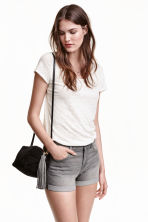 Denim shorts - Grey - Ladies | H&M CN 1