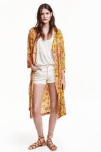 Patterned kimono - Light pink/Floral - Ladies | H&M CN 1