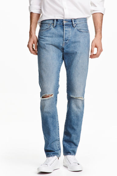 Straight Regular Trashed Jeans Модель