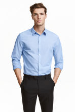 Easy-iron shirt - Light blue - Men | H&M CN 1