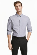 Easy-iron shirt - Grey - Men | H&M CN 1