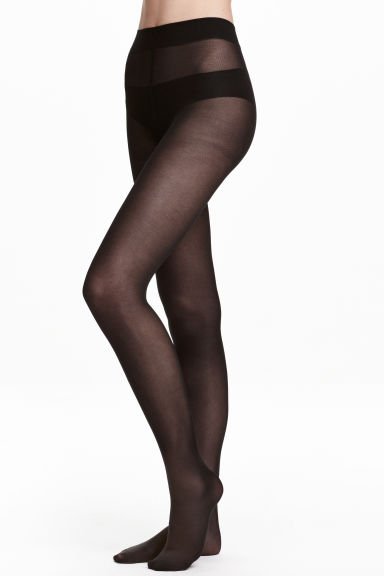 2-pack 40 denier tights - Black -  | H&M GB 1