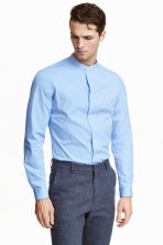 Shirt in premium cotton - Light blue - Men | H&M CN 1