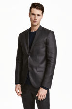 Linen jacket - Black - Men | H&M CN 1