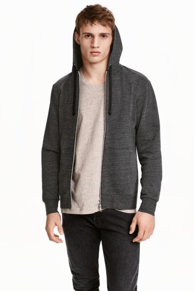 Hooded jacket - Dark grey marl - Men | H&M CN 1