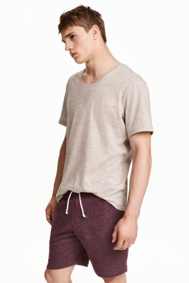 T-shirt - Beige marl - Men | H&M CN 1