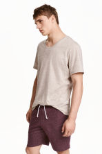 Sweatshirt shorts - Burgundy marl - Men | H&M CN 1