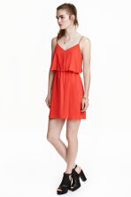 Sleeveless dress - Coral red - Ladies | H&M CN 1