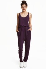 Sleeveless jumpsuit - Dark purple - Ladies | H&M 1