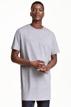 Long T-shirt - Grey - Men | H&M CN 1